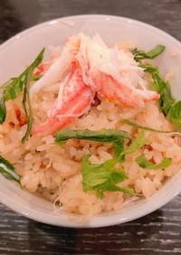 土鍋でつくる蟹飯(カニの炊き込みご飯)