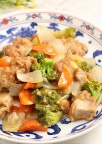 レンジで簡単!唐揚げと野菜のゆず胡椒餡