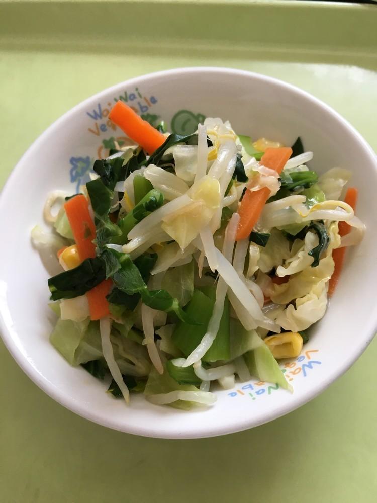 【保育園給食】小松菜サラダ