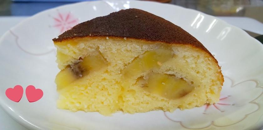 簡単♪炊飯器で作るバナナホットケーキ