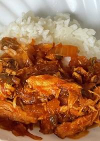 おひとりさま用、鶏肉のパキスタンカレー