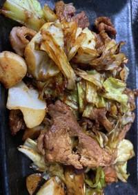 豚肉とキャベツの中華味噌炒め。回鍋肉。