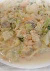 鮭とカリフラワーのプチ×2クリームパスタ