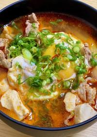 超簡単絶品♡純豆腐チゲスープ
