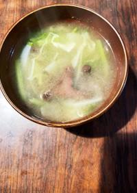 あみたけと根菜の味噌汁