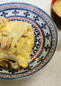豚肉と大根とチーズの卵料理&ネギの味噌汁