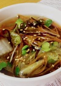 代謝UP!野菜たっぷり生姜と塩昆布スープ