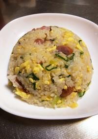 超楽々 無洗米でシャンタン炒飯作ります