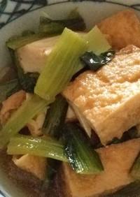 簡単、小松菜と厚揚げの炒め煮