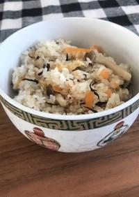 生姜が香る 芽ひじきの簡単炊き込みご飯