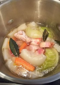 鶏手羽と厚切りベーコンのポトフ(圧力鍋)