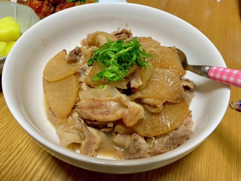 大根と豚肉の生姜焼き☆