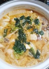 野菜たっぷり〜鶏ササミのお味噌汁♪♪♪