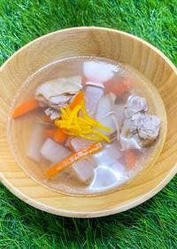生姜と柚子の温活スープ