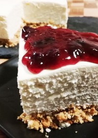 乾パンリメイク❤超簡単チーズケーキ