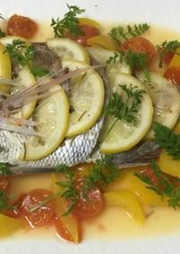 鯛の洋風姿煮…レモン添え