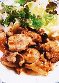 豚バラ肉生姜焼き(新調理法)