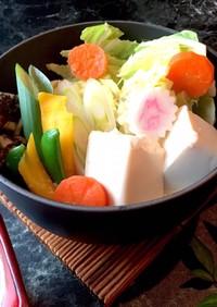 白だし豆乳鍋 低カロリー湯豆腐