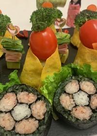 ひなまつり寿司☆野菜雛と三人官女