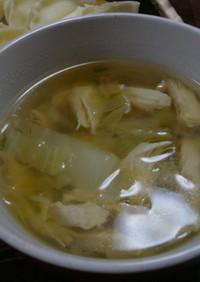鶏笹身春雨スープ