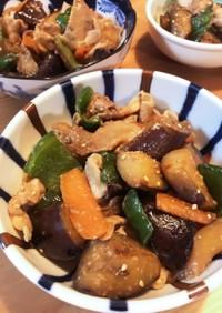 ゴマ香る☆豚肉と茄子とピーマンの味噌炒め