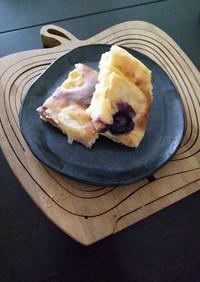 初めての包丁でリンゴのヨーグルトケーキ