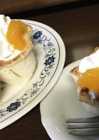 簡単!食パンで生クリームカップケーキ