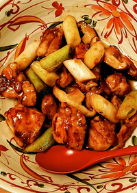 寒い日に体ぽかぽか⭐生姜と鶏と葱の甘辛煮