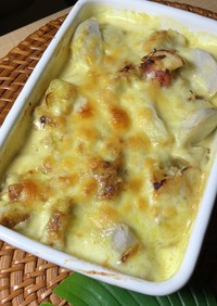 里芋のカレー風味グラタン