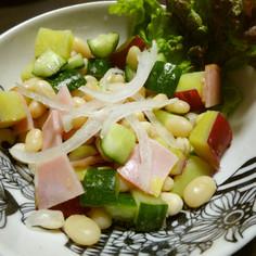 白いんげん豆とさつまいものサラダ