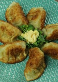 餃子皮カレー風味のポテト包み