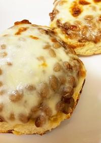 満足☆納得☆メープル納豆チーズトースト