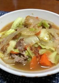 野菜たっぷり味噌ラーメン(アレンジ)
