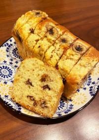 簡単バナナチョコパウンドケーキ
