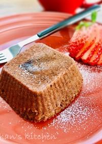 ふわとろ♡フォンダンショコラな蒸しケーキ