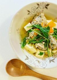 【秘密の調味料】生姜で元気!鶏団子スープ