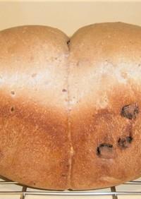 HBで成形パン シリアルレーズン食パン