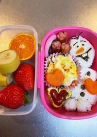 3歳児☆オラフお弁当☆