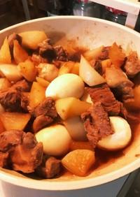 我が家の豚肉と大根の甘辛煮