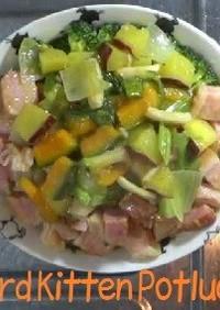 ベーコンとお野菜のパスタ料理