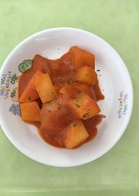 【保育園給食】鶏肉のケチャップ煮