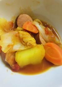 鍋に入れるだけ!簡単な白菜トマトポトフ