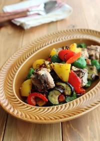 お弁当に♪さば缶と彩り野菜の塩昆布炒め