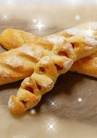 簡単手捏ねフランスパンとエピ