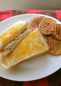 グリルドチーズトーストのツナサンド♪