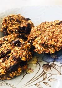 シナモン香るオートミールバナナクッキー