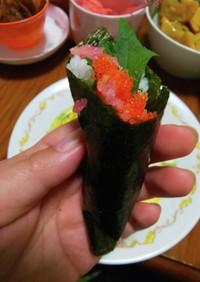 小さい手巻き寿司 のり 切り方 巻き方