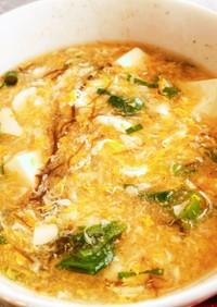 簡単酸辣湯スープ。