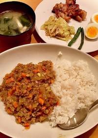 ドライカレー^_^タロの弁当 晩ごはん編