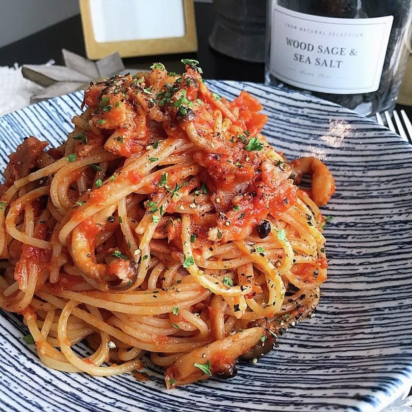 本格的な濃厚トマトソースパスタ